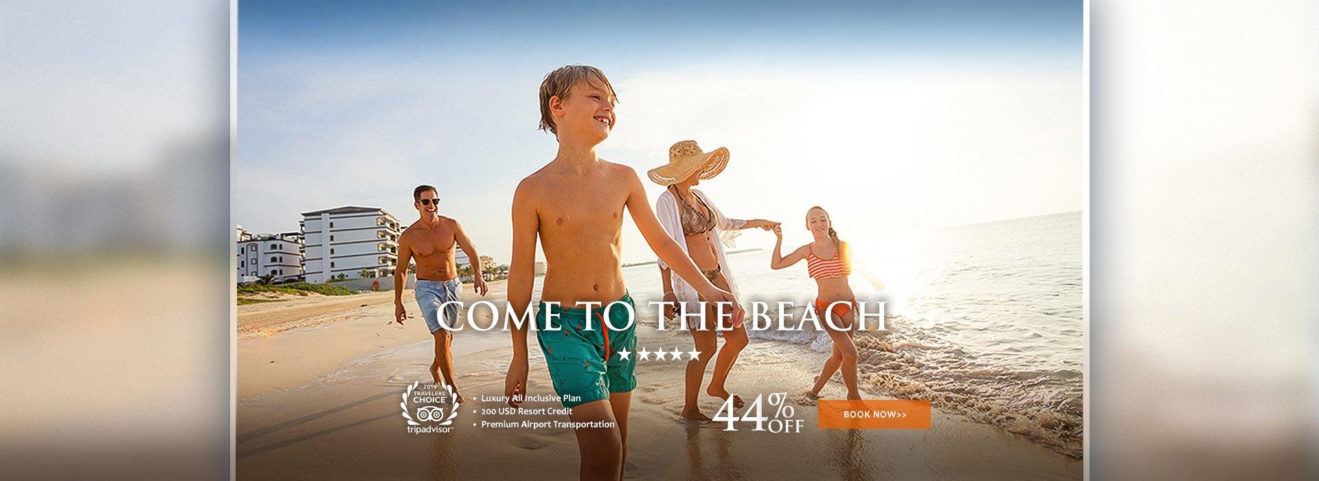 Come to the beach Riviera Maya Resort