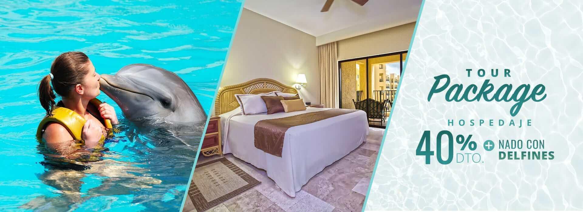 Nado con delfines en Cancún