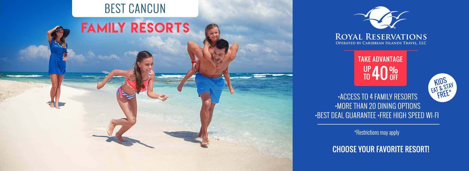 Family Resorts in Cancun