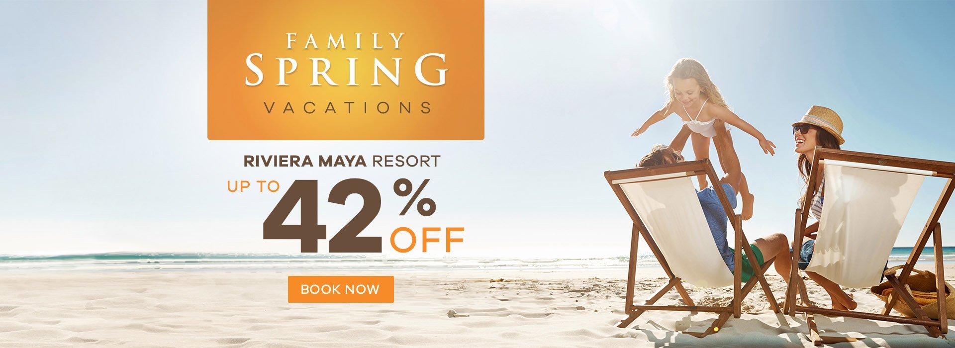 Family Spring Vacations in Riviera Maya