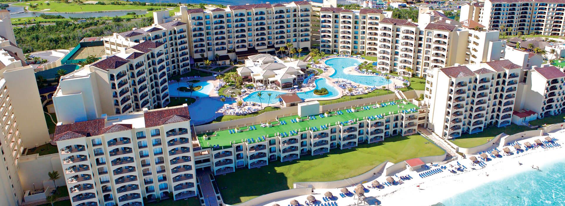 The Royal Caribbean Resort aerial view