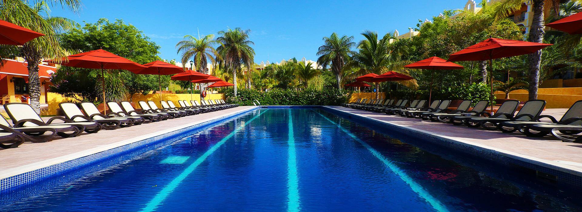 Lap pool in Playa del Carmen Resort