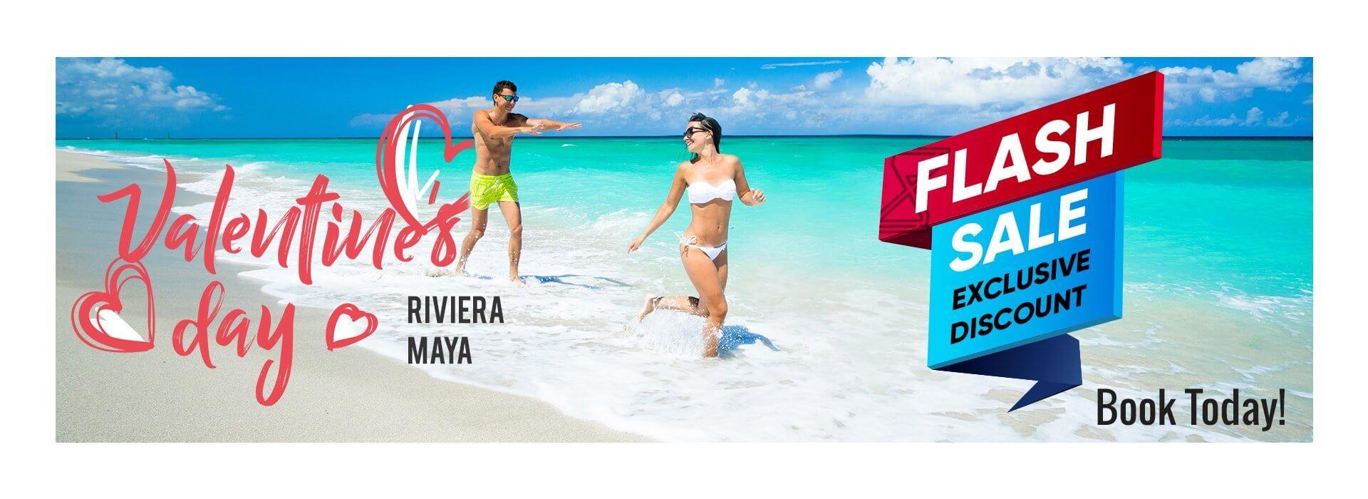 St Valentine's Flash Sale for Riviera Maya Vacations