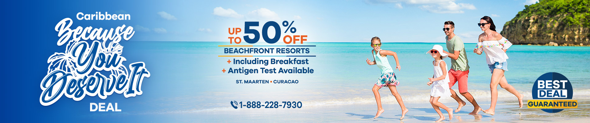 Beach vacations deals in St Maarten & Curaco