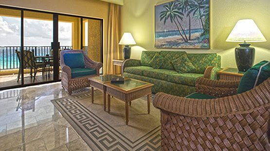 Beachfront villas one bedroom suite with full dining and living areas