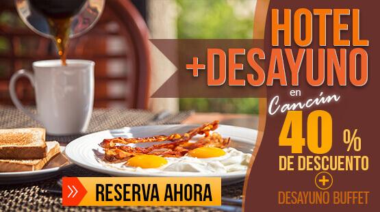 Resort en Cancún con desayunos incluidos
