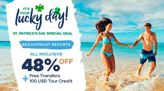 St Patrick's Flash Sale for Cancun Vacations!
