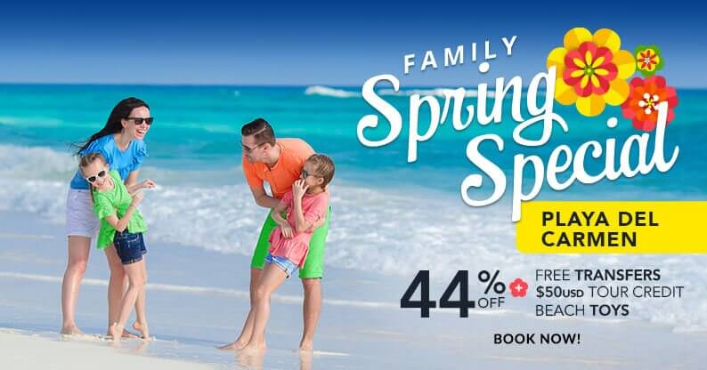 Spring Family Vacation Playa del Carmen