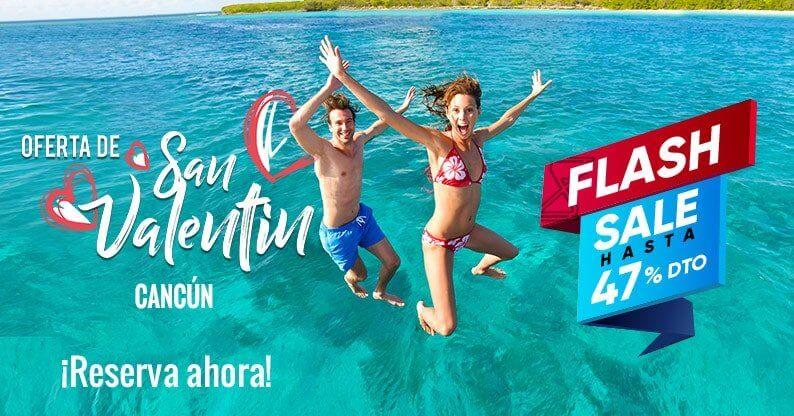 ¡Oferta Flash San Valentín en Cancún!