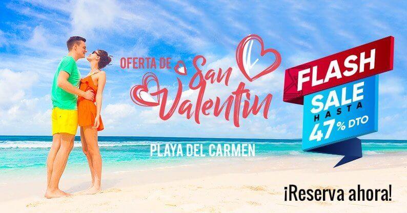 ¡Oferta Flash San Valentín en Playa del Carmen!