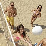Volibol de playa en el resort