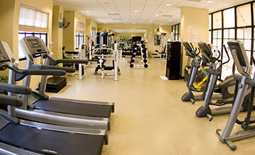 fitness center in the Royal Caribbean Resort in Cancun