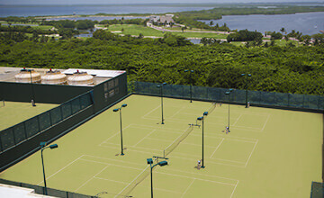 tennis courts in The Royal Caribbean Resort in Cancun