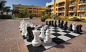 big chess at the pool of The Royal Islander Resort
