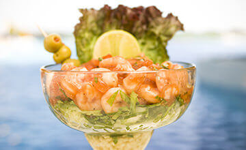 Ceviche at the pool in The Royal Haciendas