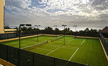 tennis courts in Cancun all inclusive Resort