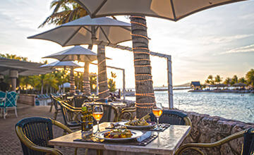 Sea food and Italian pasta in Curacao Restaurants