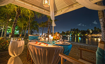 dinner at sunset in curacao resort