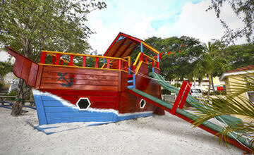 children playground in St Maarten resort