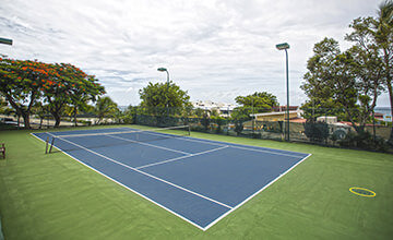 tennis courts at Simpson Bay Resort