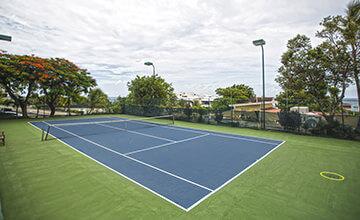 tennis courts at Simpson Bay Beach Resort