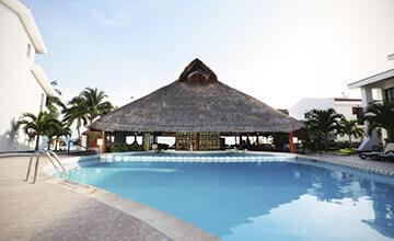 Pool bar in The Royal Cancun Resort